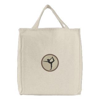 Saco da ioga bolsas bordadas