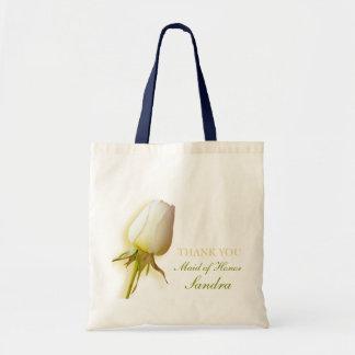 Saco da madrinha de casamento do casamento do botã bolsa para compras