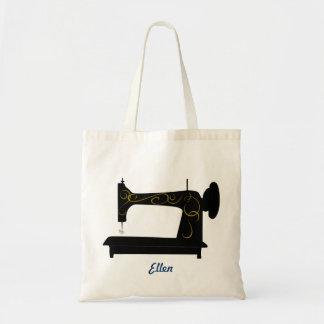 Saco da máquina de costura do vintage bolsa tote