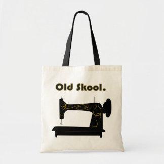 Saco da máquina de costura do vintage sacola tote budget