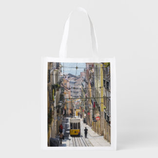 Saco da opinião da rua de Lisboa Sacolas Ecológicas Para Supermercado