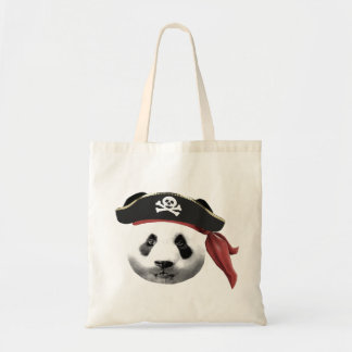 Saco da panda do pirata bolsas de lona