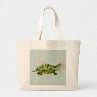 Saco da tartaruga do jade bolsa de lona