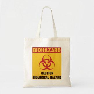 Saco de advertência do Biohazard Sacola Tote Budget