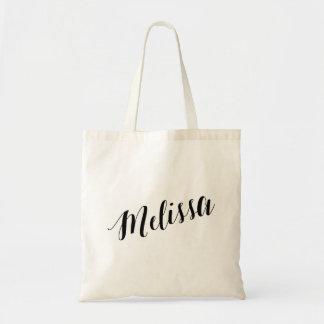 Saco de bolsa personalizado Melissa do roteiro