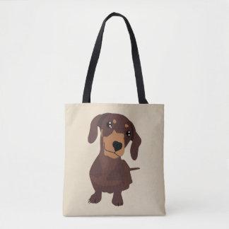 Saco de bolsas bonito do cão de salsicha do