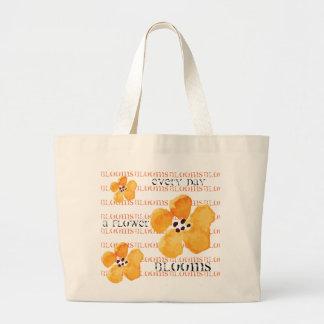 Saco de bolsas floral moderno natural feminino
