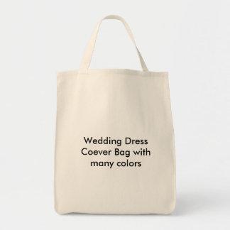 Saco de Coever do vestido de casamento com muitas  Sacola Tote De Mercado