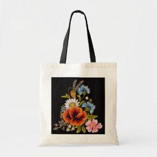 Saco de coleção da flor bolsa tote