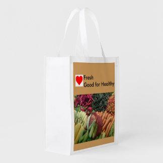 Saco de compras ao domicílio reusável sacola ecológica