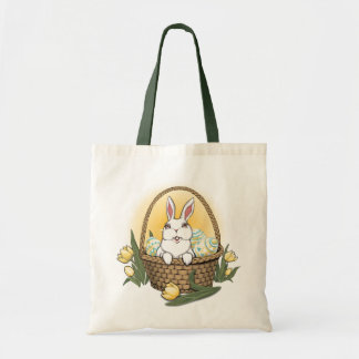Saco de compras da arte do coelhinho da Páscoa da  Bolsa