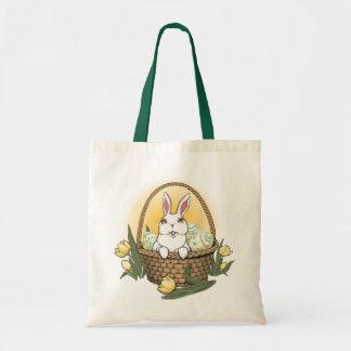 Saco de compras da arte do coelhinho da Páscoa da  Sacola Tote Budget
