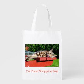 Saco de compras da comida de gato sacolas ecológicas