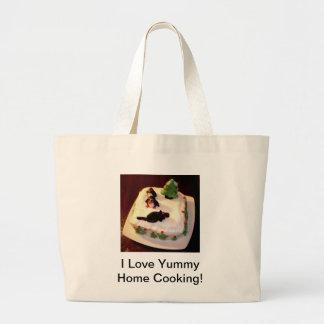 """Saco de compras - """"eu amo bolo do cozinhar Home sa Bolsa De Lona"""