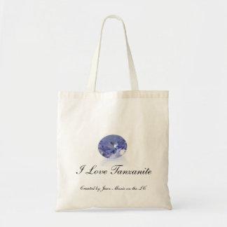 Saco de compras eu amo Tanzanite. Reusável Bolsas De Lona