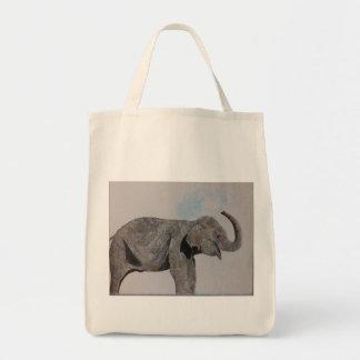 Saco de compras feliz do bolsa do elefante da água