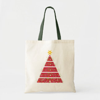 Saco de compras sazonal vermelho da árvore de bolsa tote