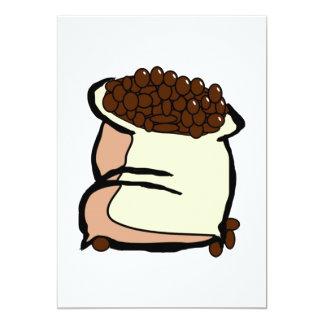 Saco de convites dos feijões de café
