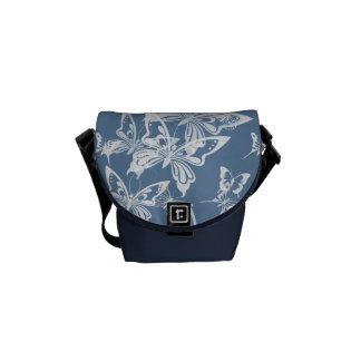 Saco de Courrier - borboletas em azul-céu Bolsa Mensageiro