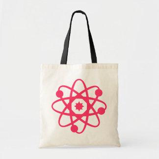 Saco de livro atômico cor-de-rosa sacola tote budget