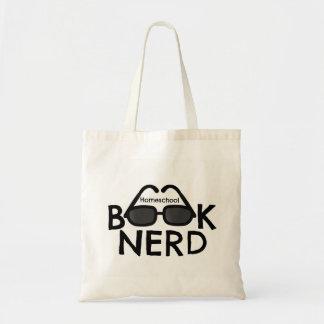 Saco de livro do bolsa do nerd do livro de