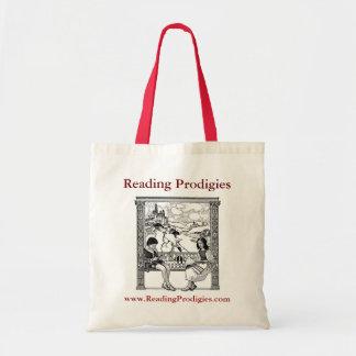 Saco de livro dos prodígios da leitura sacola tote budget