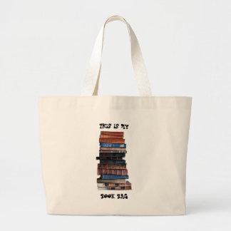 Saco de livro sacola tote jumbo