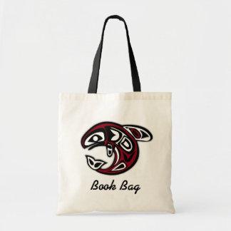 Saco de livro salmon pacífico tropical sacola tote budget