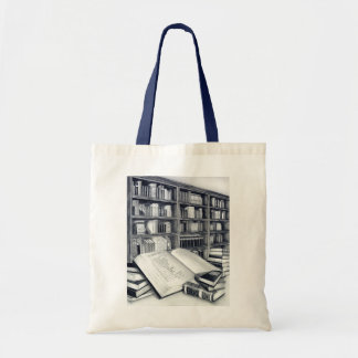 Saco de livros bolsa de lona