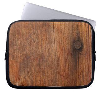 Saco de madeira dos eletrônicos do celeiro rústico bolsas e capas para computadores