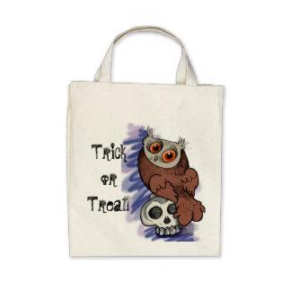 Saco de Scardy Owl~treat da doçura ou travessura Bolsa Para Compras