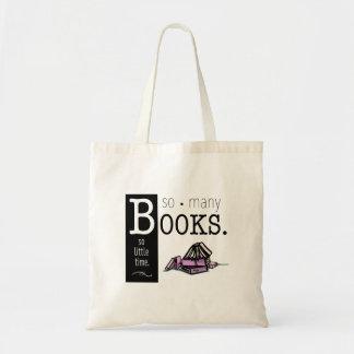 Saco de tão muitos livros sacola tote budget