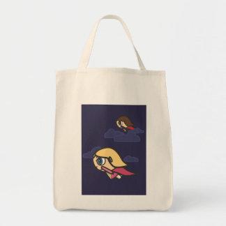 Saco de vôo da noite dos personagens de desenho an bolsas de lona