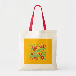 Saco decorativo floral original do desenho bolsas de lona