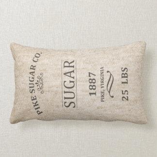 Saco do açúcar do vintage travesseiro