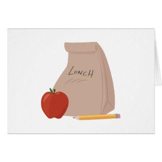 Saco do almoço cartoes