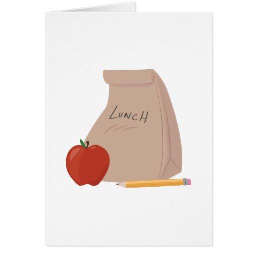 Saco do almoço cartão