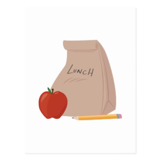Saco do almoço cartão postal