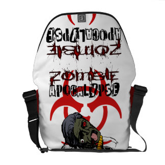 Saco do apocalipse do zombi bolsas mensageiro