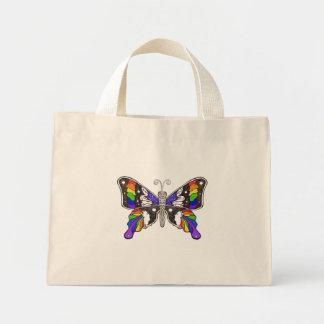 Saco do arco-íris da borboleta sacola tote mini
