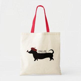 Saco do cão de salsicha bolsa tote