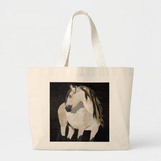 Saco do cavalo branco bolsas de lona