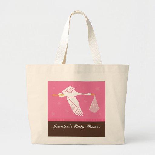 Saco do chá de fraldas da cegonha - rosa/Brown Bolsas