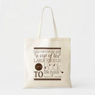 Saco do chá & de livros bolsa de lona