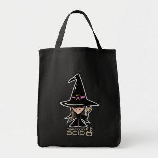 Saco do Dia das Bruxas - bruxa bonito dos desenhos Bolsas Para Compras