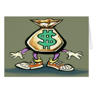 Saco do dinheiro cartão