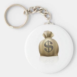 Saco do dinheiro do dólar chaveiro