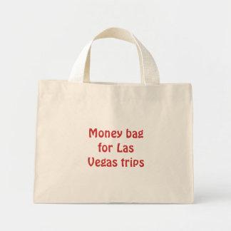 Saco do dinheiro para viagens de Las Vegas Bolsa De Lona
