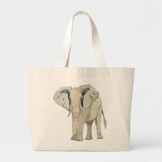 Saco do elefante branco bolsa de lona