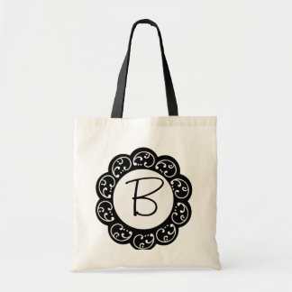 Saco do favor do casamento do monograma bolsa para compras